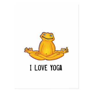 Yoga Frog - I Love Yoga Postcard