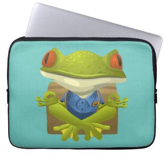 Yoga Frog Laptop Computer Sleeves