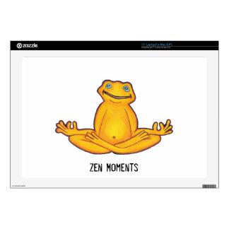 Yoga Frog - Moments of Zen Laptop skin