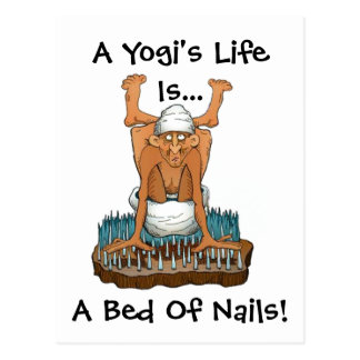 Yoga Fun Design A Yogi's Life Bed of Nails gifts Postcards