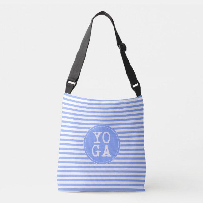 YOGA | Fun Typography - Bright Purple-Blue Striped