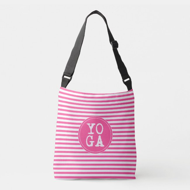 YOGA | Fun Typography - Hot Pink Striped
