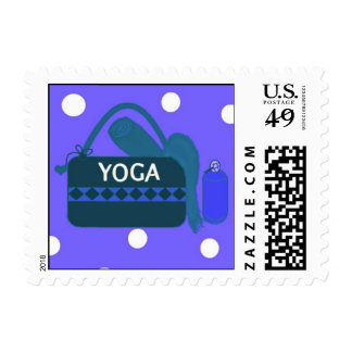 Yoga Gear Postage Stamps