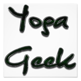 Yoga Geek Green Photo Print