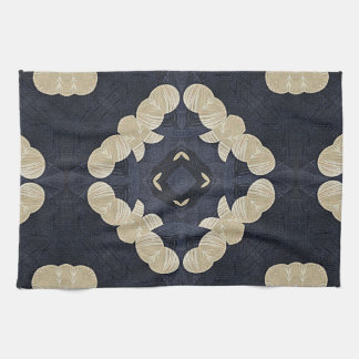 yoga geométrica del quatrefoil del modelo toalla de cocina