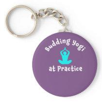 Yoga gift Yogi At Practice Keychain