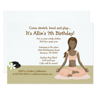 Yoga Girl Birthday Party #3 Card