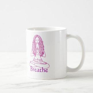 Yoga girl breathe mug
