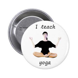 Yoga Girl Button