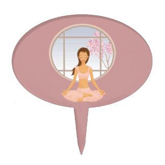 yoga girl cake topper