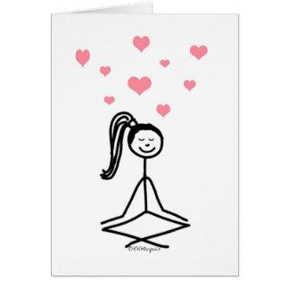 Yoga Girl Greeting Cards