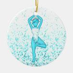 Yoga Girl Christmas Ornaments