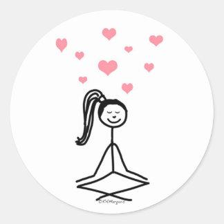 Yoga Girl Classic Round Sticker