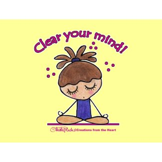 Yoga Girl-Clear Your Mind Post Cards