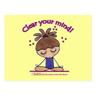 Yoga Girl-Clear Your Mind Postcard