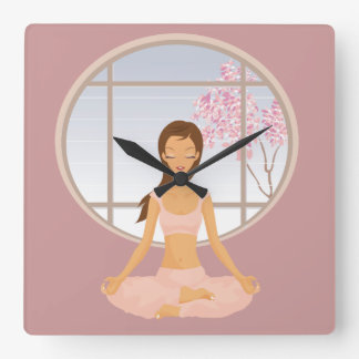 yoga girl clock