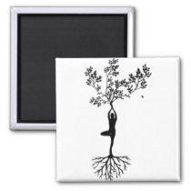 Yoga Girl Growing With Nature Magnet