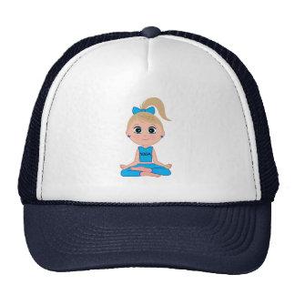 Yoga Girl in Blue Trucker Hat