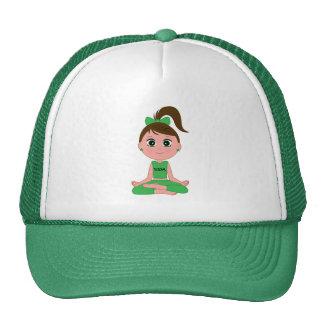 Yoga Girl in Green Trucker Hat