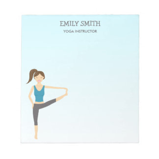Yoga Girl In Hand To Toe Yoga Instructor Notepad