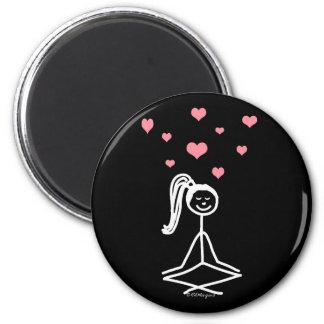 Yoga Girl Refrigerator Magnets