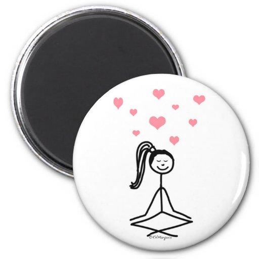 Yoga Girl Magnets