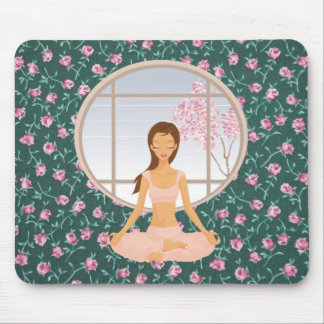 yoga girl mouse pad