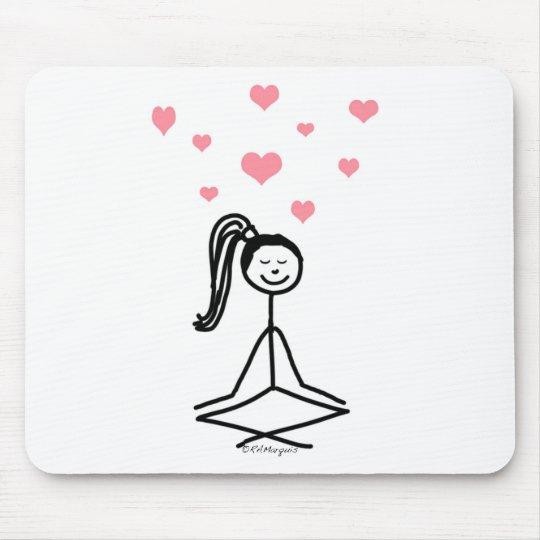 Yoga Girl Mouse Pad