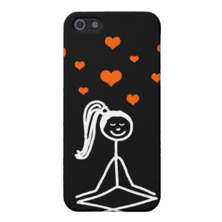 Yoga Girl (orange hearts) Case For iPhone SE/5/5s