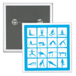Yoga Girl Poses 2 Inch Square Button