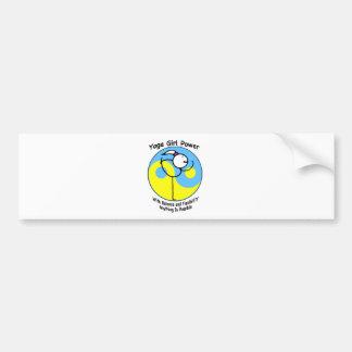 Yoga Girl Power Logo Bumper Sticker