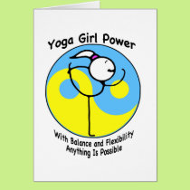Yoga Girl Power Logo Card