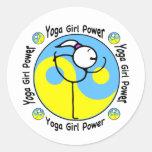 Yoga Girl Power Logo Classic Round Sticker