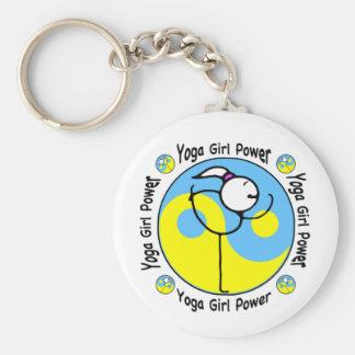 Yoga Girl Power Logo Key Chains