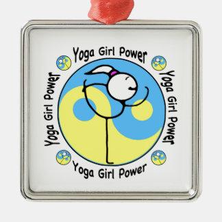 Yoga Girl Power Logo Metal Ornament