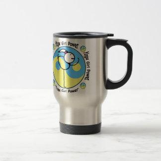 Yoga Girl Power Logo 15 Oz Stainless Steel Travel Mug