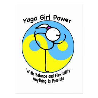 Yoga Girl Power Logo Postcard