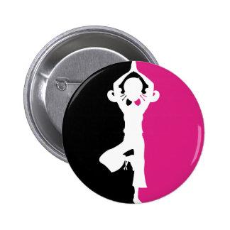 Yoga Girl Silhouette Badge Pins