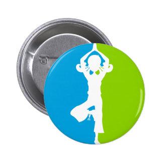 Yoga Girl Silhouette Badge Button