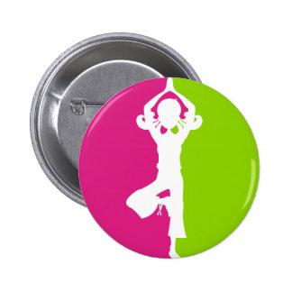 Yoga Girl Silhouette Badge Pin