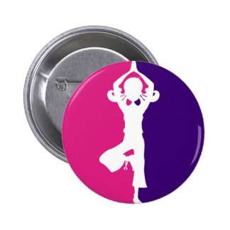 Yoga Girl Silhouette Badge Pinback Button