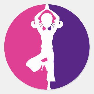 Yoga Girl Silhouette Sticker