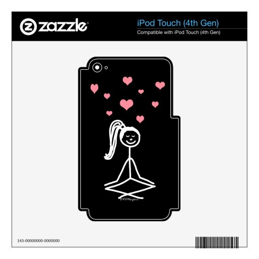 Yoga Girl Skin For iPod Touch 4G
