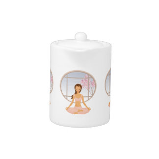 yoga girl teapot