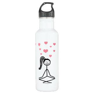 Yoga Girl Water Bottle, 24oz 24oz Water Bottle