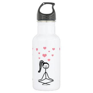 Yoga Girl Water Bottle, 32 oz 18oz Water Bottle