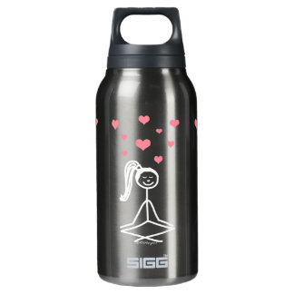 Yoga Girl Water Bottle, 32oz 10 Oz Insulated SIGG Thermos Water Bottle