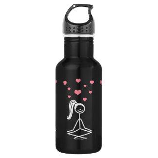 Yoga Girl Water Bottle, 32oz 18oz Water Bottle