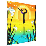Yoga  Girl  Wrapped Canvas Canvas Prints