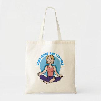 Yoga Girls Are Flexible Yoga Budget Tote Bag
